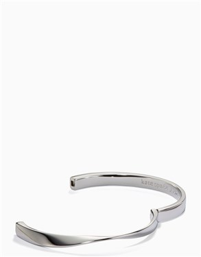 Kate Spade New York Do The Twist Hinged Silver Bangle  - Click to view larger image