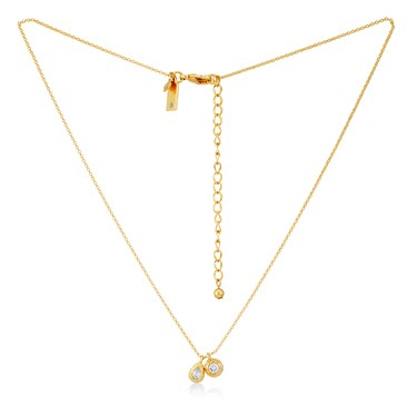 Kate Spade New York Elegant Edge Gold Charm Pendant Necklace  - Click to view larger image