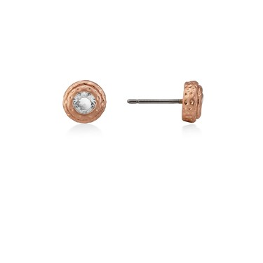 Kate Spade New York Elegant Edge Rose Gold Round Stud Earrings  - Click to view larger image
