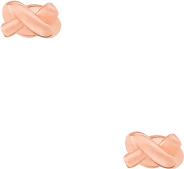 303187e52674c Kate Spade New York Sailors Knot Rose Gold Stud Earrings | Argento.com