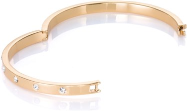 Kate Spade New York Set In Stone Metal Hinged Gold Bangle  - Click to view larger image