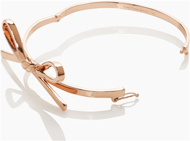 Kate Spade New York Skinny Mini Bow Rose Gold Bangle  - Click to view larger image