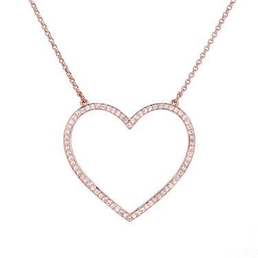 Kate Spade New York Yours Truly Pave Heart Mini Pendant  - Click to view larger image