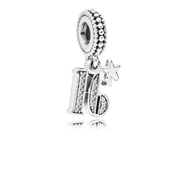 Pandora 16 Years of Love Pendant Charm  - Click to view larger image