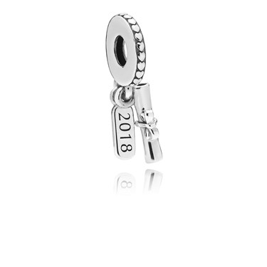 Pandora Graduation Scroll Pendant Charm  - Click to view larger image