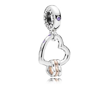 Pandora Heart Highlights Pendant Charm  - Click to view larger image