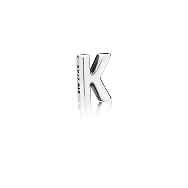 PANDORA Letter K Petite Locket Charm  - Click to view larger image