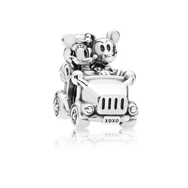 Pandora Disney, Mickey & Minnie Vintage Car Charm  - Click to view larger image