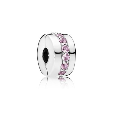 Pandora Pink Shining Path Clip  - Click to view larger image