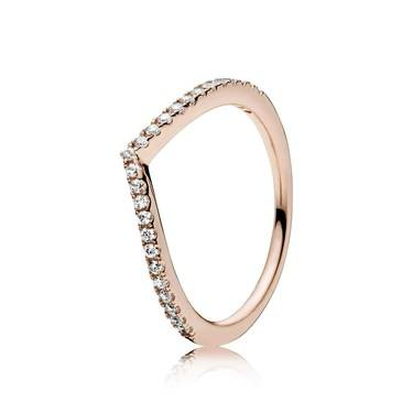 PANDORA Rose Shimmering Wish Ring  - Click to view larger image