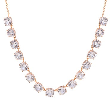August Woods Rose Gold Clear CZ Drop Necklace  - Click to view larger image