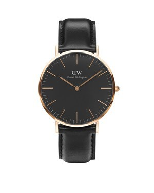 Daniel Wellington Classic Black Sheffield 40mm Rose Gold Watch  - Click to view larger image