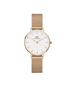 Daniel Wellington Petite White Melrose 28mm Rose Gold Watch  - Click to view larger image