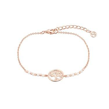 Argento Rose Gold Tree of Life Bracelet  - Click to view larger image