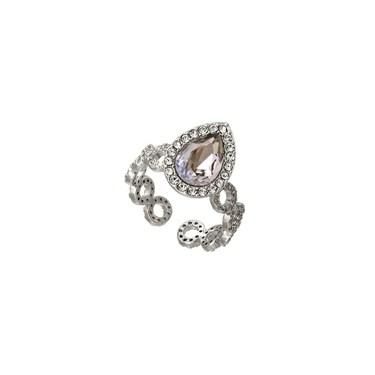 Lily & Rose Carlotta Silvershade Crystal Ring  - Click to view larger image