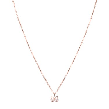 Argento Rose Gold Mix Lotus Flower Necklace  - Click to view larger image