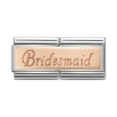 Nomination Rose Gold Bridesmaid Charm  - Click to view larger image