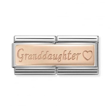 Nomination Rose Gold Granddaughter Charm  - Click to view larger image