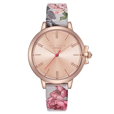 43660dc6dabbd Ted Baker Ruth Palace Garden Leather Rose Gold Watch - Agrandar imagen