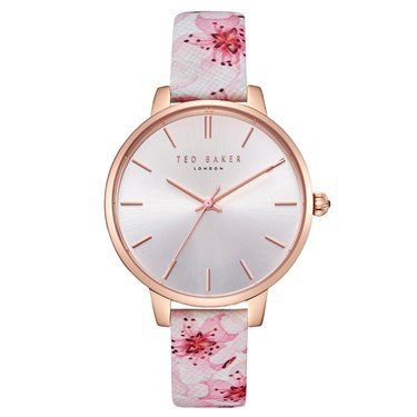 Ted Baker Kate Peach Blossom Leather Pink Watch  - Click to view larger image