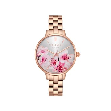 Ted Baker Kate Rose Gold Bracelet Floral Dial Watch  - Click to view larger image