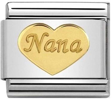 Nomination Nana Gold Heart   - Click to view larger image