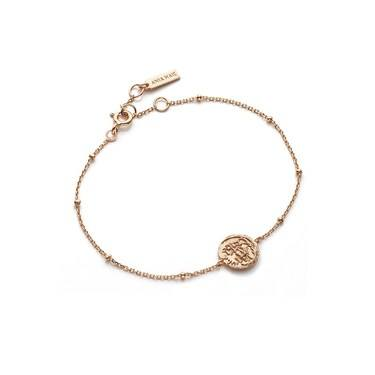 Ania Haie Rose Gold Medallion Bracelet - Rose Gold