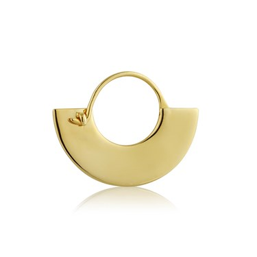 Ania Haie Gold Flat Hoop Earrings  - Click to view larger image