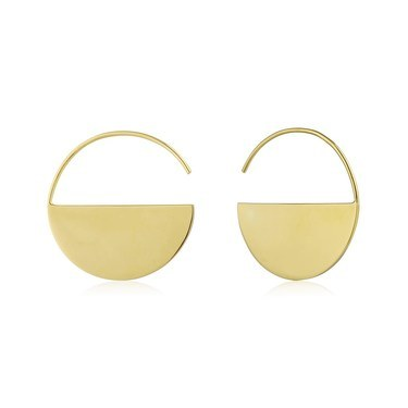 Ania Haie Gold Semi-Circle Hoop Earrings  - Click to view larger image