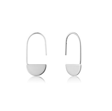 Ania Haie Silver Hook Earrings  - Click to view larger image