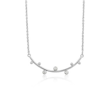 Ania Haie Silver Sparkle Stud Double Necklace  - Click to view larger image