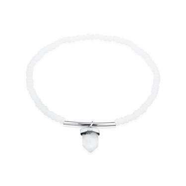 August Woods Silver Rock Crystal Bead Bracelet  - Click to view larger image