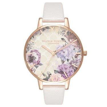 Olivia Burton Glasshouse Blush + Rose Gold Watch  - Click to view larger image