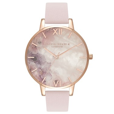 Olivia Burton Semi-Precious Watercolour Blossom Watch  - Click to view larger image