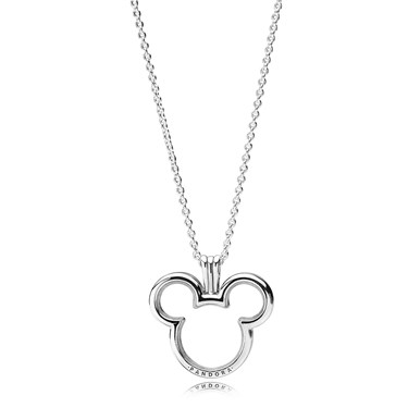 Pandora Disney, Mickey Locket Necklace  - Click to view larger image