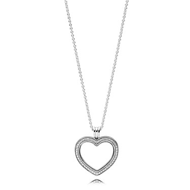 46fef41fe Pandora Sparkling PANDORA Floating Heart Locket - Click to view larger image