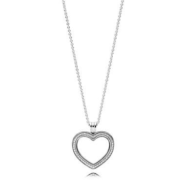 Pandora Sparkling PANDORA Floating Heart Locket  - Click to view larger image