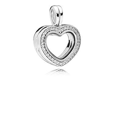 PANDORA Sparkling Heart Locket  - Click to view larger image