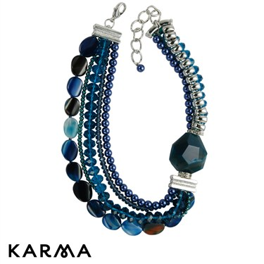 Karma Peacock Statement Necklace