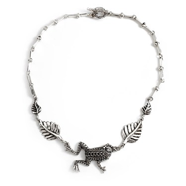 Argento Frog Leaf Necklace