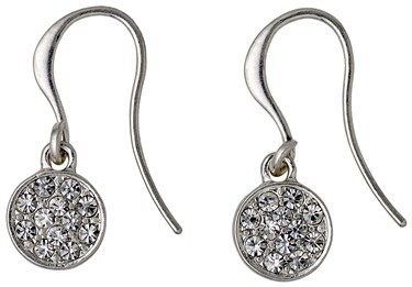 Pilgrim Classic Silver Grace Drop Earrings  - Click to view larger image