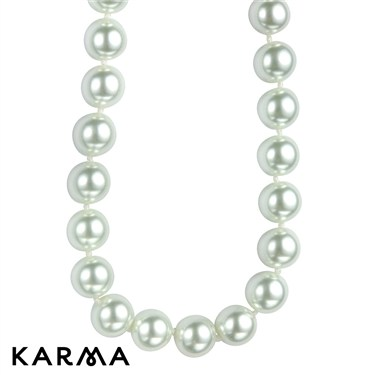 Karma Crystal Clasp Pearl Necklace