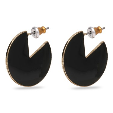 Pilgrim Gold Plated Enamel Earrings  - Click to view larger image