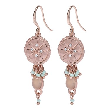 Pilgrim Mya Rose Gold Plated Seal Earrings   - Click to view larger image