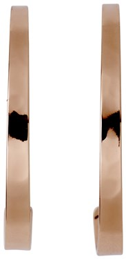 Pilgrim Rose Gold Plated Hoop Earrings  - Click to view larger image