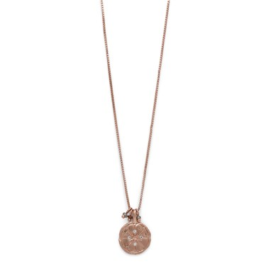Pilgrim Mya Rose Gold Plated Seal Necklace  - Click to view larger image