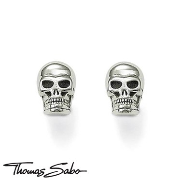Thomas Sabo Skull Stud Earrings  - Click to view larger image