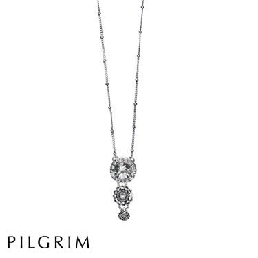 PILGRIM Crystal Drop Necklace