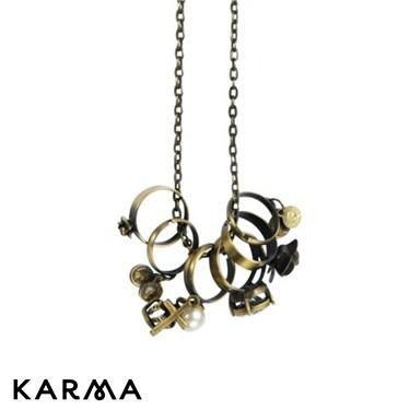 Karma Multi Ring Necklace