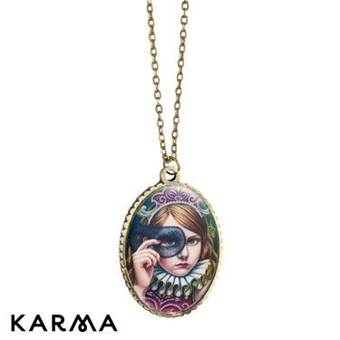 Karma Girl in Costume Necklace
